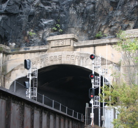 2014. Note the expansion carved in the left wall of the tunnel.