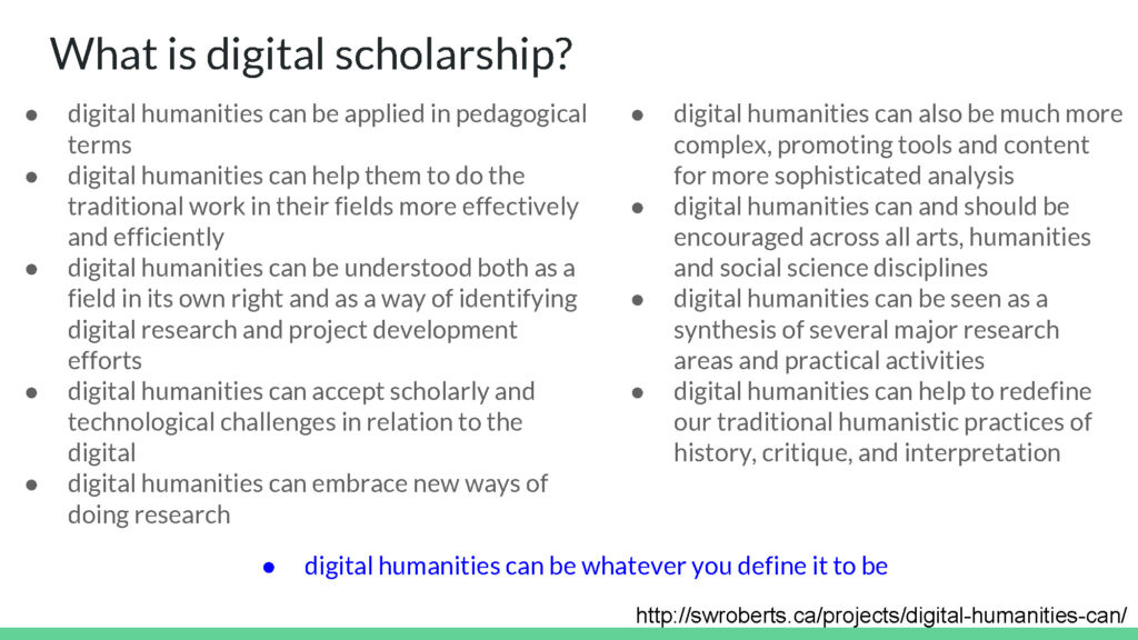 What is digital scholarship?