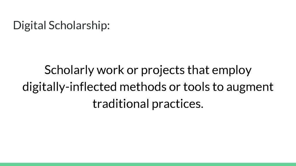 Digital scholarship definition