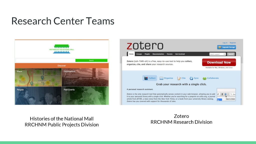 Research Center Teams Examples 2