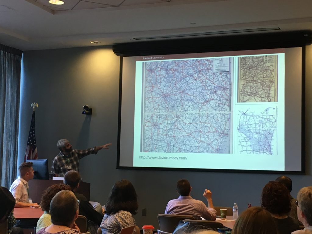 Jack Reed presenting at Code4Lib Southeast